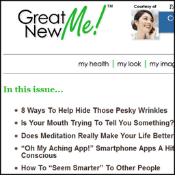 GreatNewMe! Newsletter